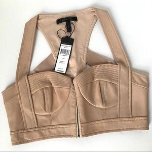 Women's BCBG leather bralette vest